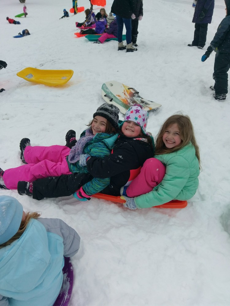 An afternoon of sledding earned!!