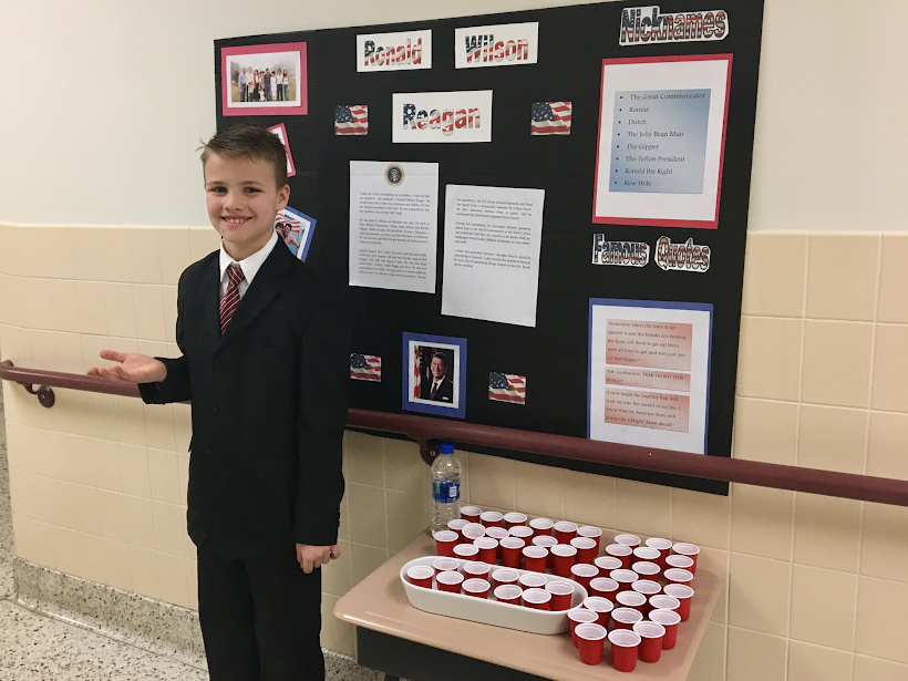Presidential Wax Museum puts students in the shoes of past presidents