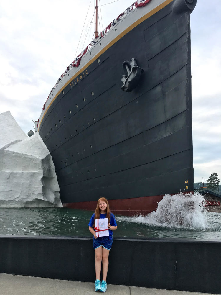 Wingate Elementary student's book recognized by Titanic Museum
