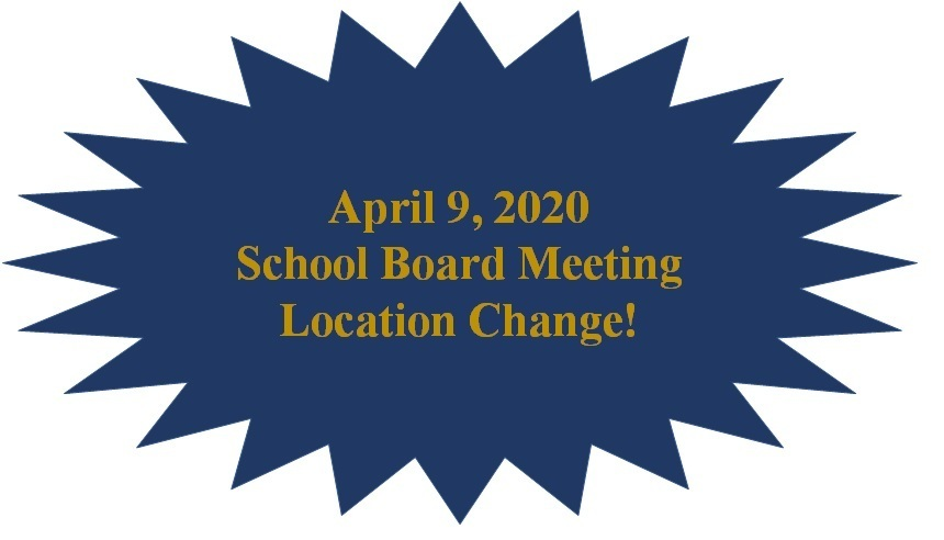 April 9, 2020 School Board Meeting