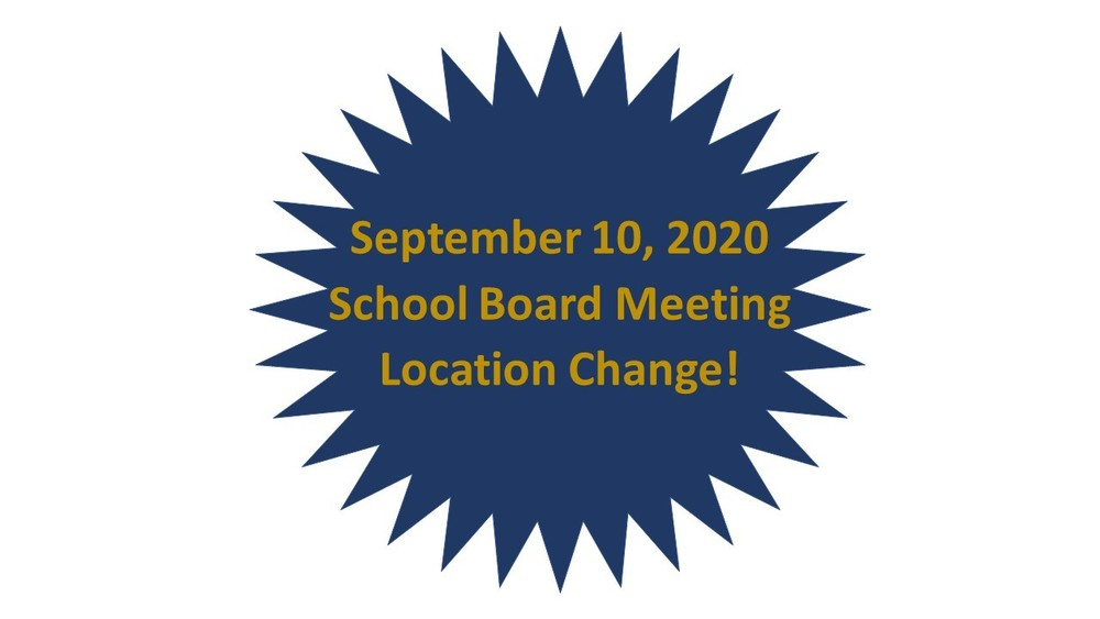 September 10, 2020 School Board Meeting