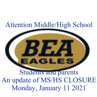 Update on MS/HS closure