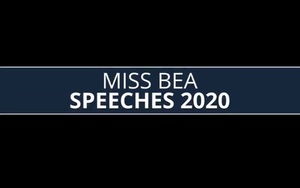 Miss BEA Speeches