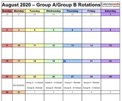 Option 2 schedule for Group A and B