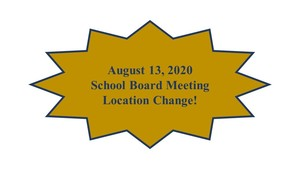 August 13, 2020 School Board Meeting