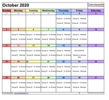 Option 2 October Schedule for Group A and B