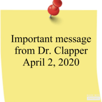 Letter from Dr. Clapper April 2, 2020