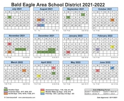 District Approved 2021-2022 School year calendar.